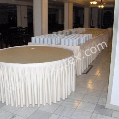 Masa Eteği Skirt Banket Masa Örtüsü