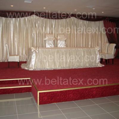sandalye giydirme düğün salonu tekstil sahne çalışması